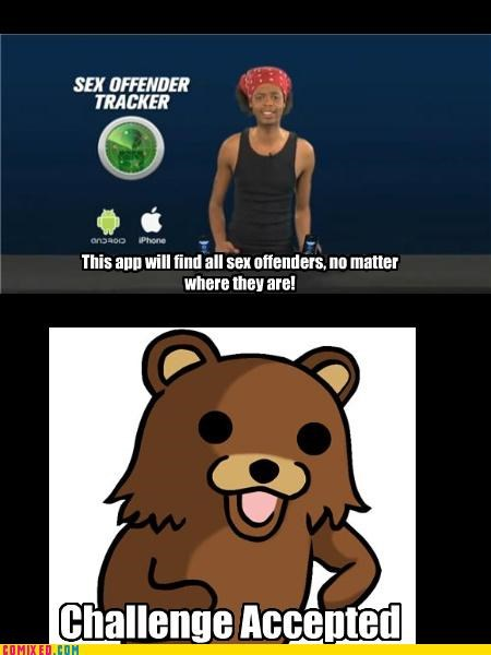 Antoine Dodson,Challenge Accepted,danger,pedobear,sex offender,technology,the internets