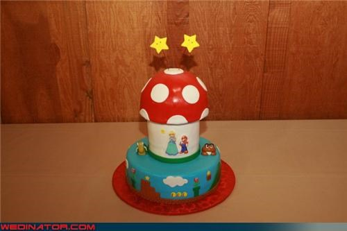 awesome super mario wedding cake,awesome wedding cake,bride,Dreamcake,funny wedding photos,groom,mario and the princess cake toppers,super mario cake,super mario cake topper,super mario wedding cake,surprise,themed wedding cake,Wedding Themes