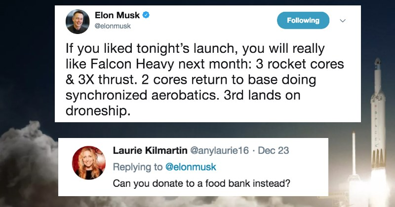 Idiot Gets Annihilated By Twitter After They Try to Give Elon Musk Grief For SpaceX