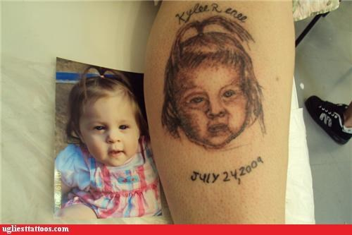 bad,kids,portraits,tattoos