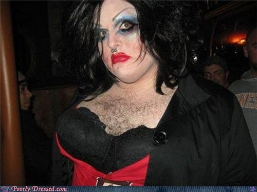 chest hair,cross dressing,nose ring,old greg