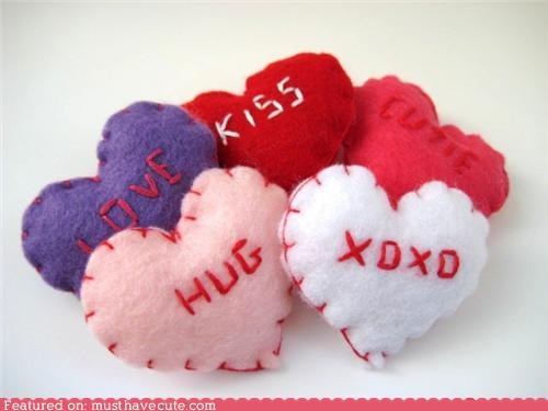 candy conversation felt hearts Plush valentnes-day - 4368376320