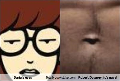 belly button,cartoons,daria,eyes,navel,robert downey jr