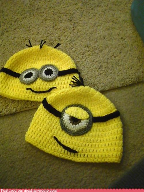 crochet despicable me hat minions Movie - 4368398592