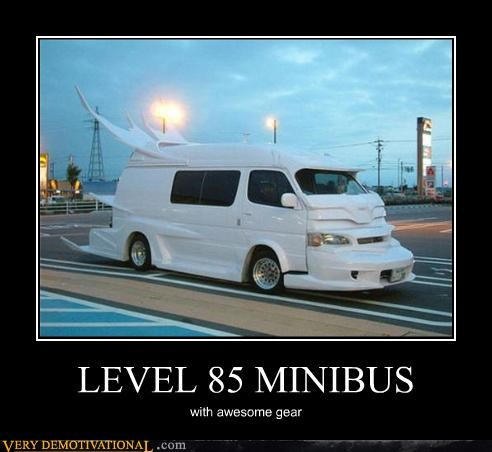 awesome car gear level 85 minibus WoW