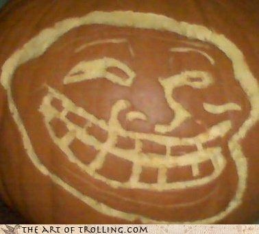 early halloween IRL or late pumpkins trollface - 4368533248