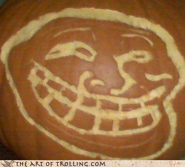 early halloween IRL or late pumpkins trollface - 4368533248