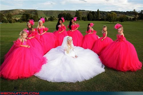 bride Crazy Brides fashion is my passion funny bride picture funny bridesmaids picture funny wedding photos giant bridesmaids dresses giant dresses giant wedding dress Gypsy wedding hot pink bridesmaids dresses My Big Fat Gypsy Wedding News and Trends technical difficulties traveller wedding trends Wedding Themes whoa wtf