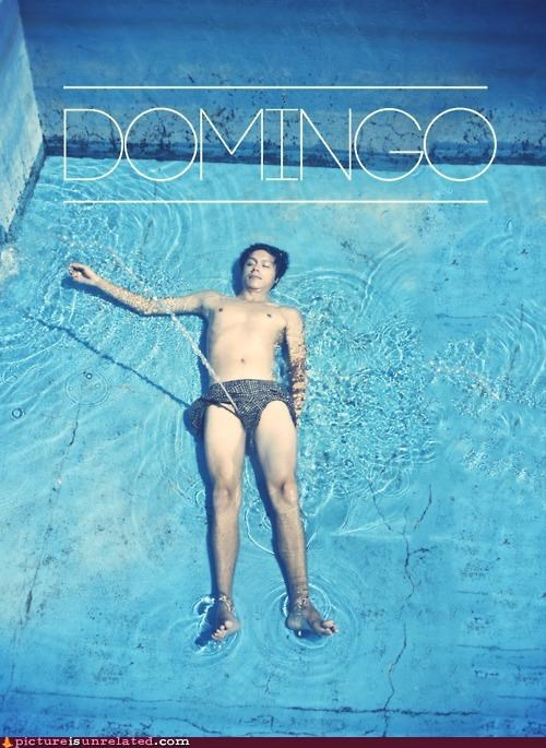 domingo peeing pool swimming wtf - 4369085696
