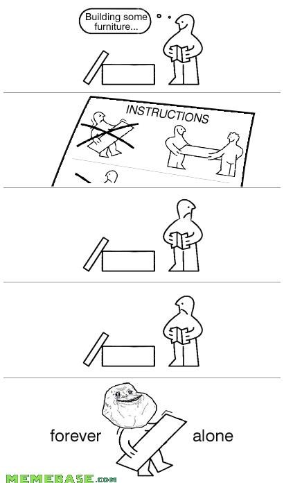 DIY forever alone furniture ikea no help - 4369597184
