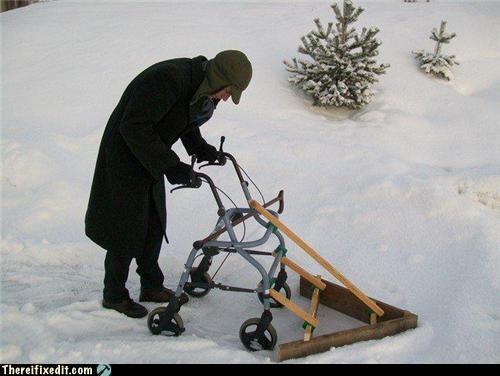 mean old people snow snowplow winter - 4369702400