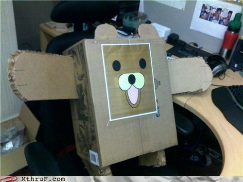 cardboard cubicle pedobear prank - 4370046720