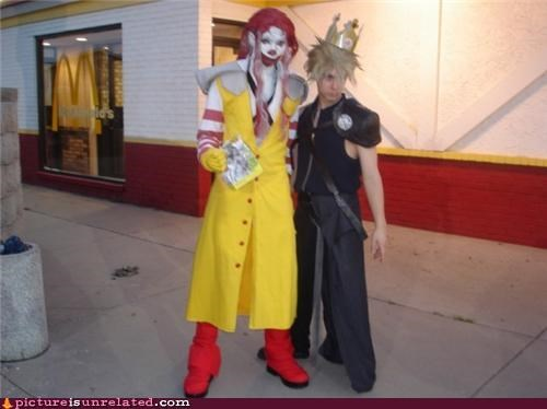 cosplay,costume,McDonald's,sepiroth,wtf