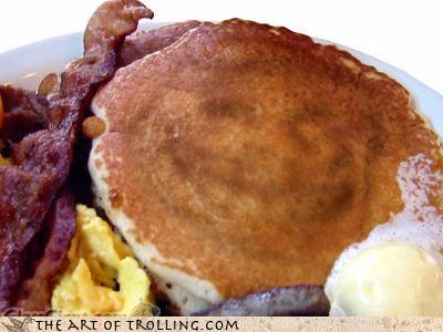 breakfast pancakes troll face - 4370670848