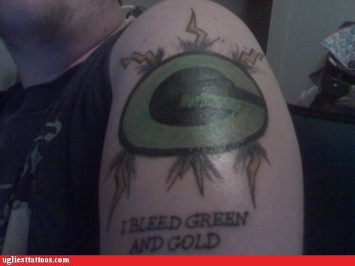 greenbay,tattoos,football,funny,g rated,Ugliest Tattoos