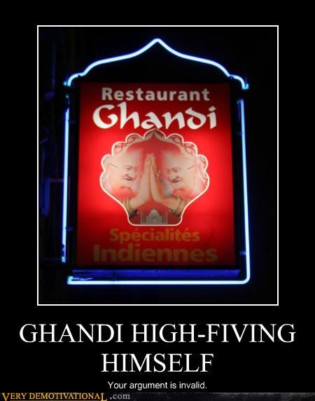 food Ghandi restaurant sign