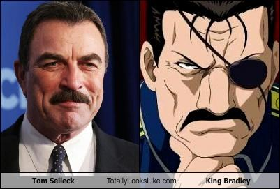 eyepatch,king bradley actor,mustache,tom selleck