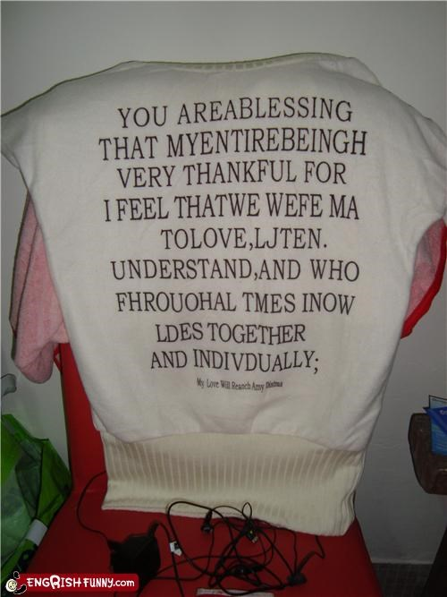 engrish sweater wtf