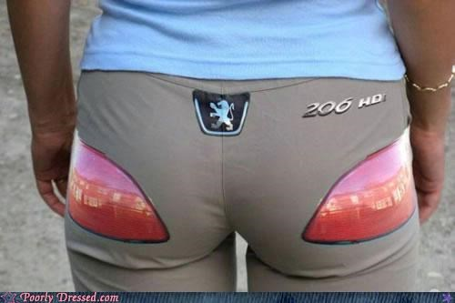 butt,pants,peugeot,tail lights,weird