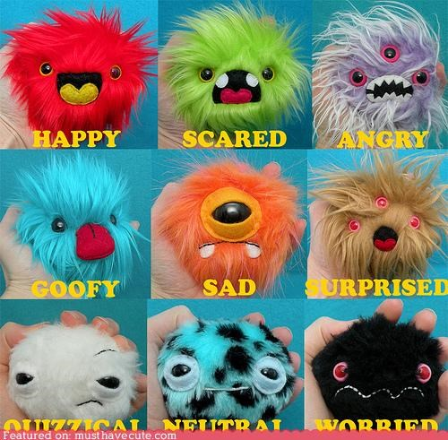 emotions feelings monster Plush