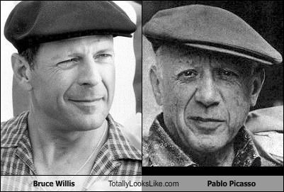 actor artist bruce willis pablo picasso