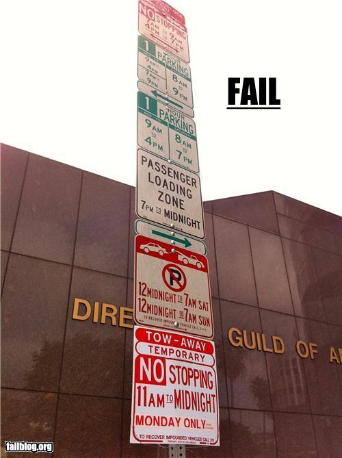 classic failboat g rated oh California parking signs - 4372653568