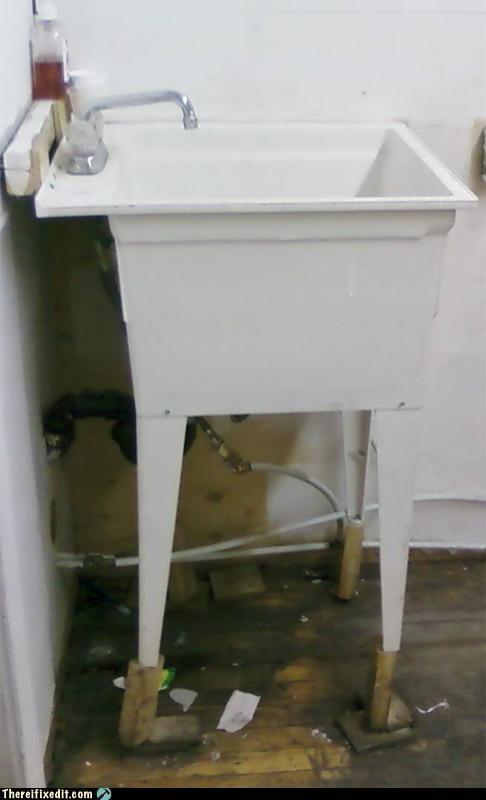 holding it up kitchen kludge sink