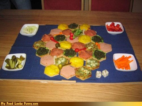 board game,edible,game,settlers of catan,snacks