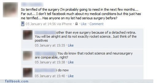 facepalm health questions scared surgery - 4372923648