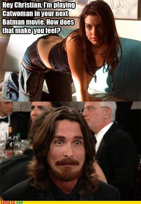 cat woman christian bale happiness im-the-goddamn-batman - 4374165504