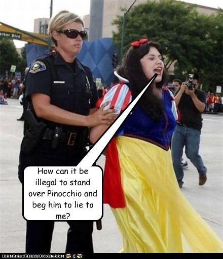 arrest costume dirty lie lying pinocchio police sex snow white - 4374213888