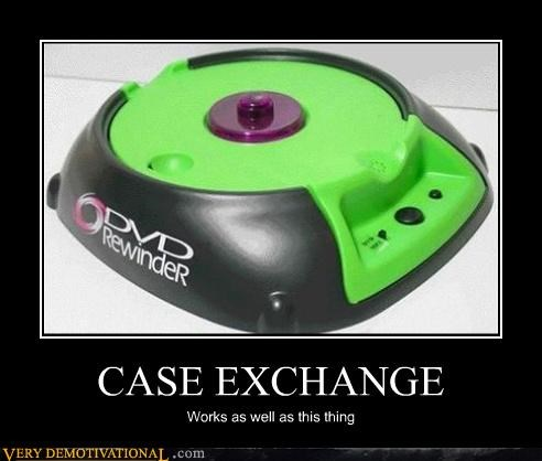 rewinder DVD case exchange