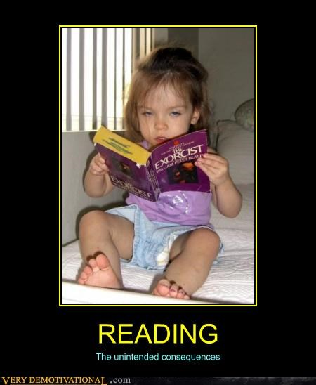 bad idea demons exorcist kid reading
