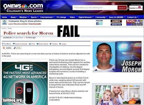 criminal failboat g rated moron name Probably bad News - 4375146496