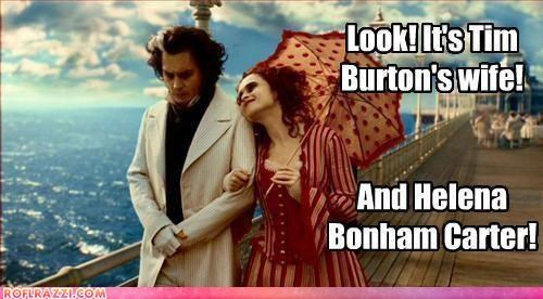 funny Hall of Fame helena bonham-carter Johnny Depp tim burton - 4375285760