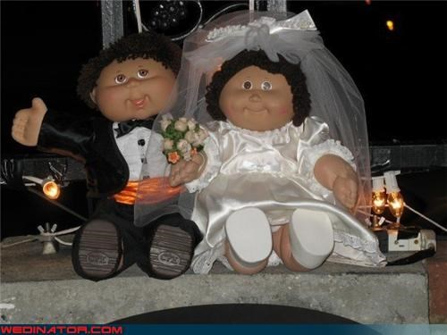 bride Cabbage Patch bride and groom Cabbage Patch memorabilia Cabbage Patch wedding dolls Crazy Brides funny wedding photos nostalgia old skool wedding gift surprise wedding gift Wedding Themes wtf