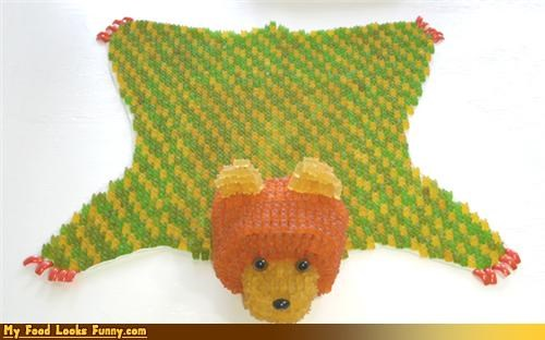 bear rug,candy,gummy bears,rug