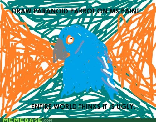 ms paint Paranoid Parrot ugly - 4375459072