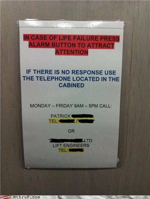 alarm caution elevator life lift - 4375463168