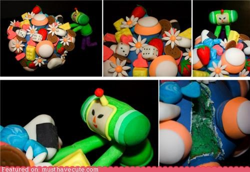 cake epicute fondant Katamari Damacy video game - 4375466240