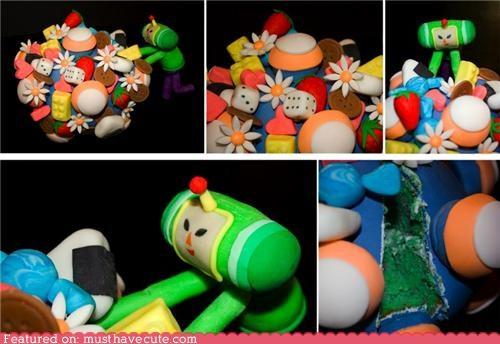 cake epicute fondant Katamari Damacy video game - 4375466240