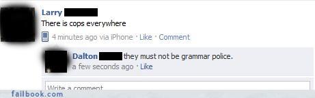 cops grammar oh snap police spelling - 4375493632