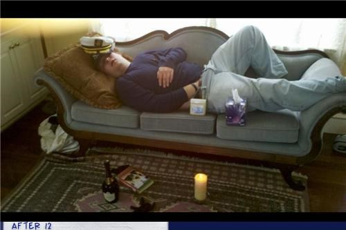 al bundy,hands down pants,hat,passed out