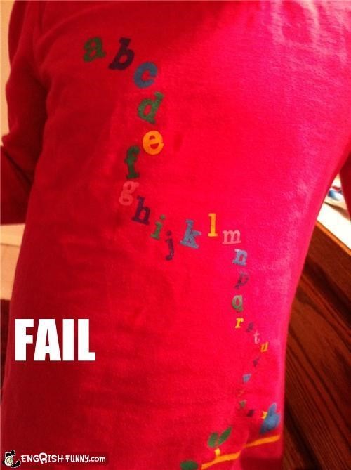 alphabet FAIL shirt - 4375533568