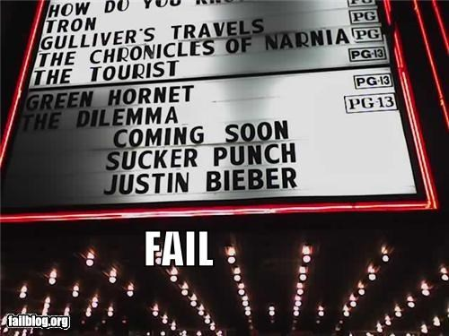 failboat,g rated,justin bieber,juxtaposition,marquee,Movie,movies,punch