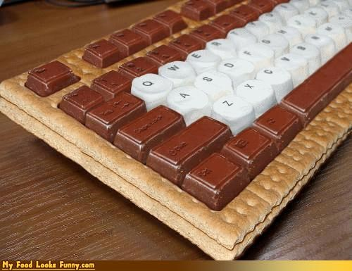 chocolate keyboard keyboard-smore marshmallow smore Sweet Treats - 4375819520
