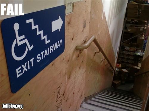 bad idea,exits,failboat,g rated,handicapped,sign