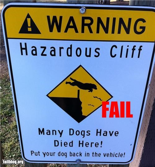 Won't Someone Think Of The Dogs? An oddly specific warning for dogs