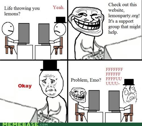 emo,lemon party,lemonade,problem,Rage Comics,support group