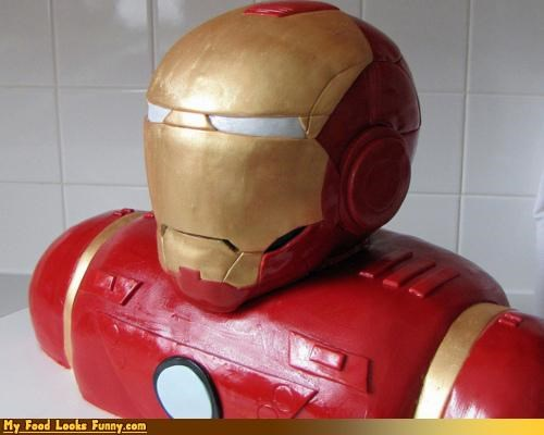 cake,comics,iron man,iron man cake,movies,robert downey jr,superheros,Sweet Treats